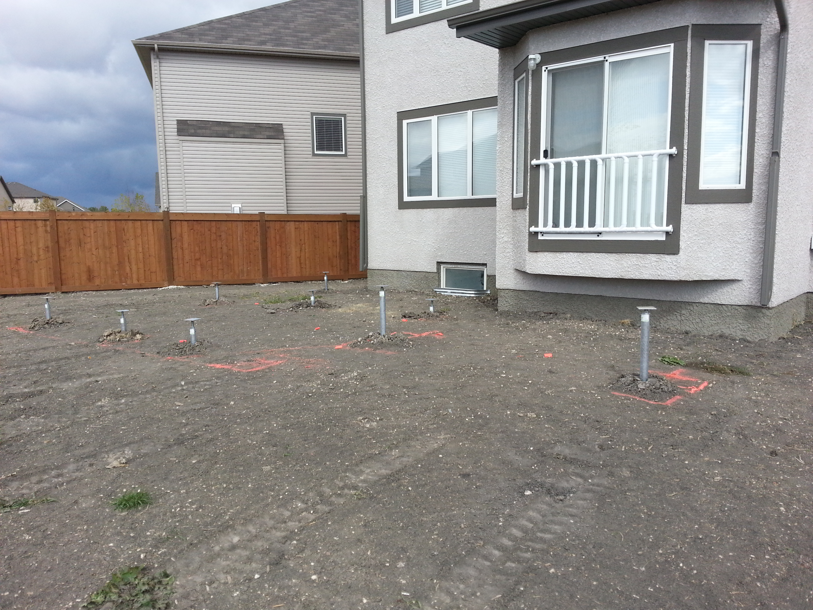 Fastest and easiest deck foundations in manitoba postech for Foundation pilings