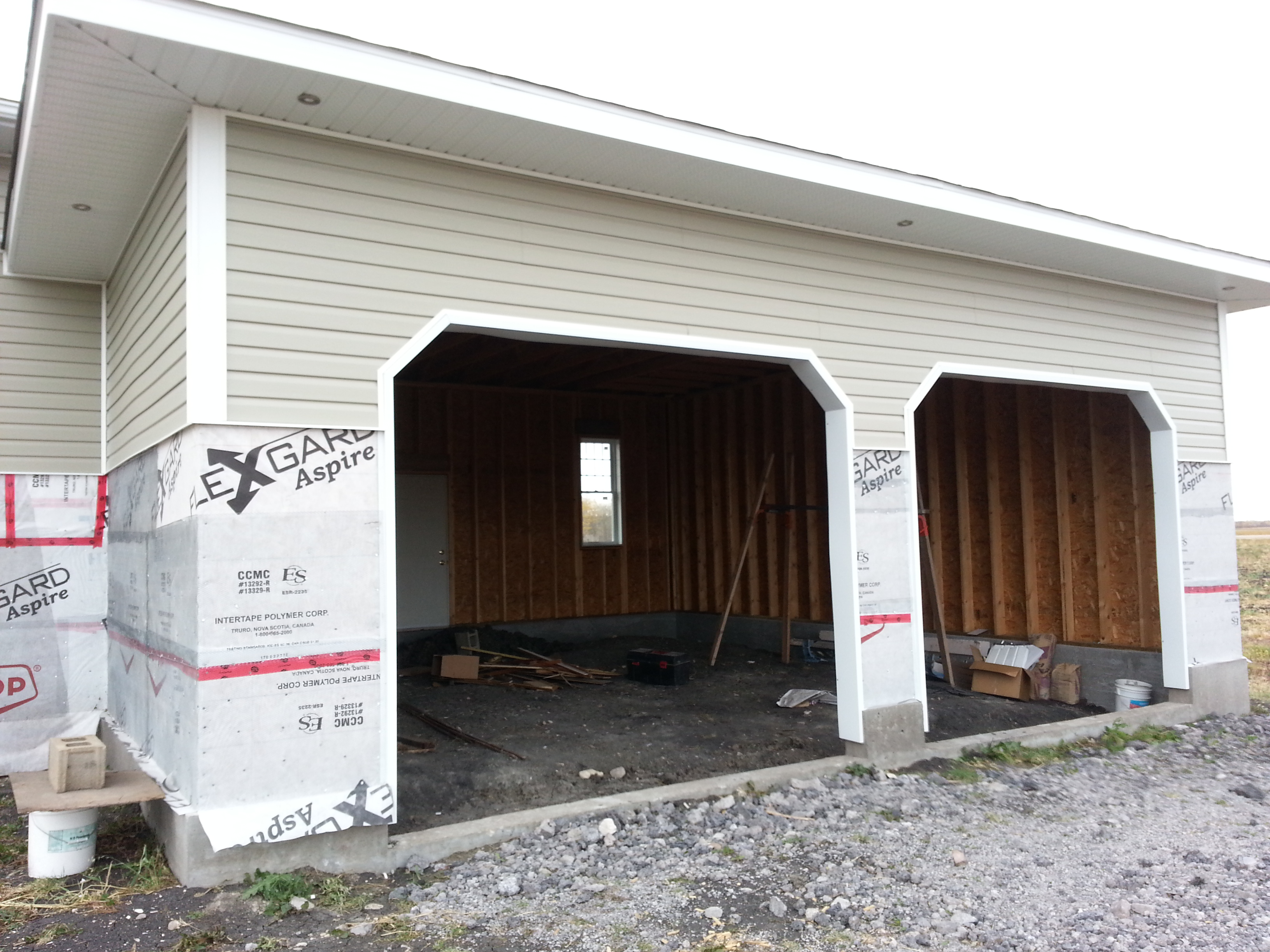 Screw Piles For Garage In Beausejour Manitoba Installed