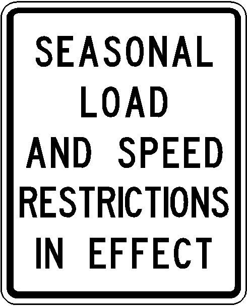 Manitoba Load Restricted Roads