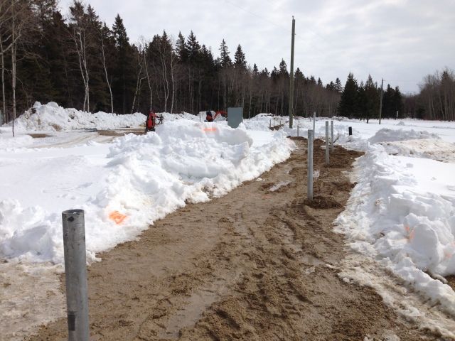 Helical Screw Piles Installed Into Frozen Ground - Sand - Birds Hill Park Manitoba