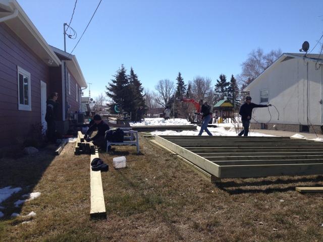 Postech Winnipeg Ground Anchors for Deck in Winter