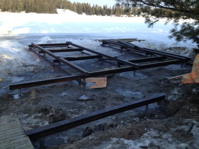 Dock & Boathouse Foundation on Screw Piles - Postech Winnipeg