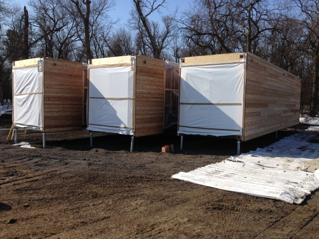 Screw Piles for Sea & Storage Container Washrooms in Winnipeg Manitoba