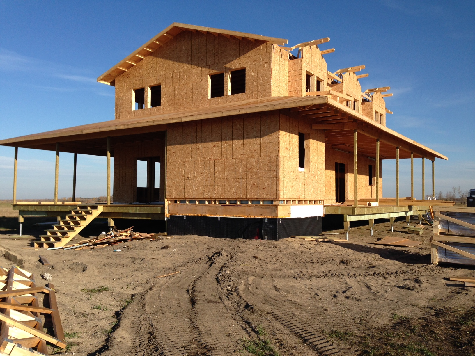 Building a new home in garson mb on postech winnipeg House piles