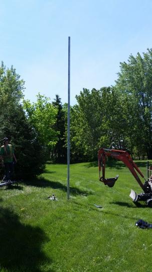 utility pole manitoba clothesline