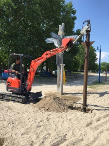 Gimli Screw Pile Flag Pole Base