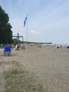 Gimli Blue Flag Pole on Screw Pile